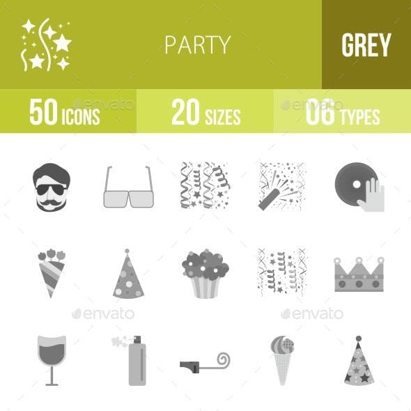 Party Greyscale Icons