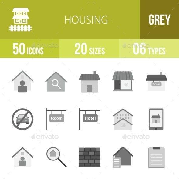 Housing Greyscale Icons
