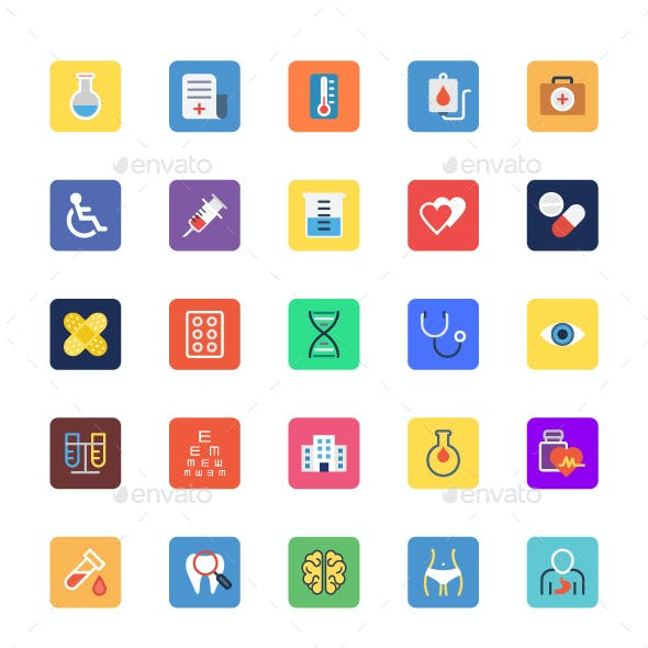 90+ Medical Icons Set