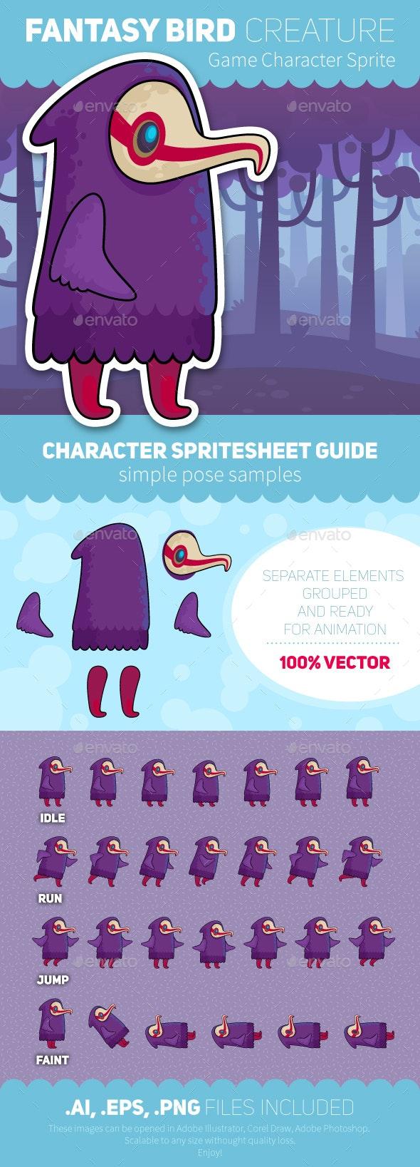 Game Character Sprite Sheet - Vectors