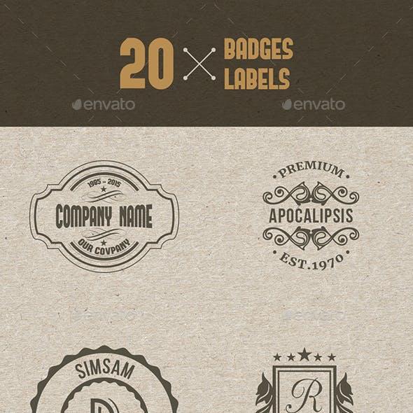 20 Badges & Label
