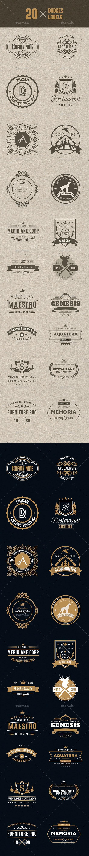 20 Badges & Label - Badges & Stickers Web Elements