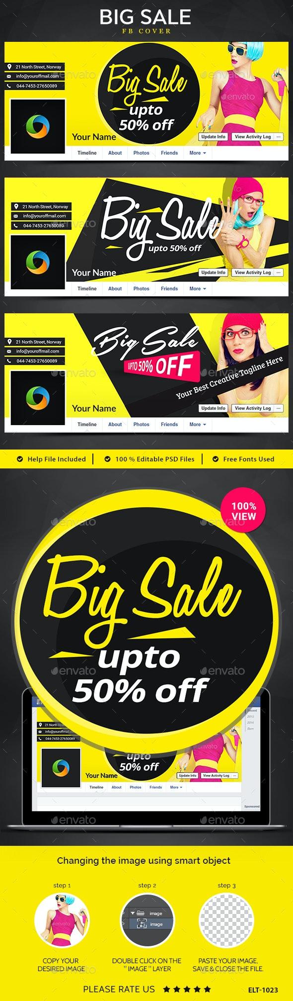 Big Sale Facebook Covers - 3 Designs