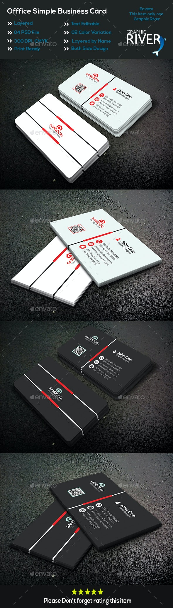 Office Simple Business Card - Business Cards Print Templates