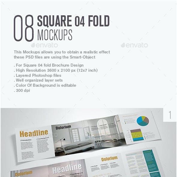 Square 04 Fold Mockup