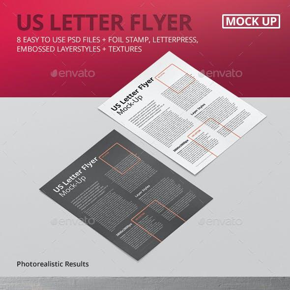 US Letter Flyer Mock-Up