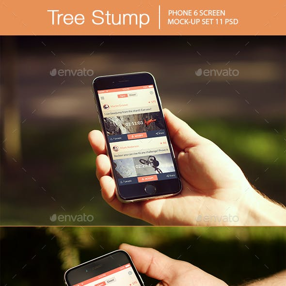Tree Stump iPhone 6 Mockup