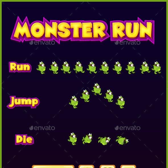 Monster run game sprite