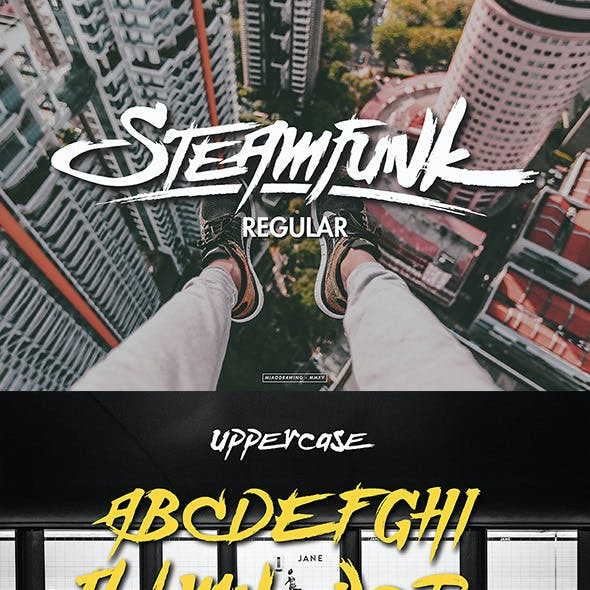 Steamfunk Typeface