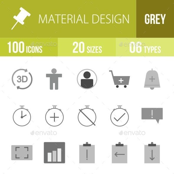 Material Design Greyscale Icons