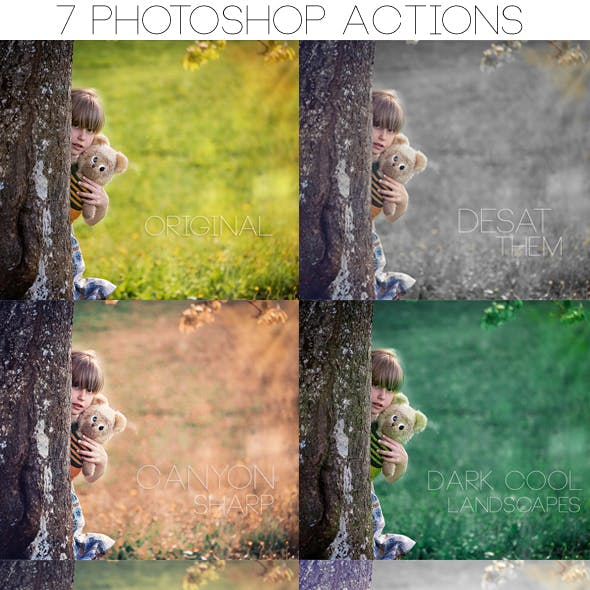 Minimal Photoshop Matte Actions