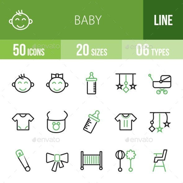 Baby Green & Black Icons