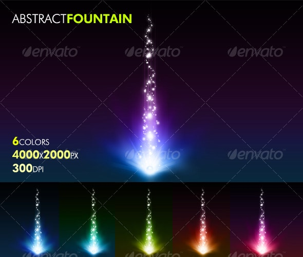 Abstract Fountain - Abstract Backgrounds