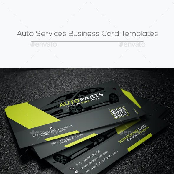 Auto Services Business Card Templates