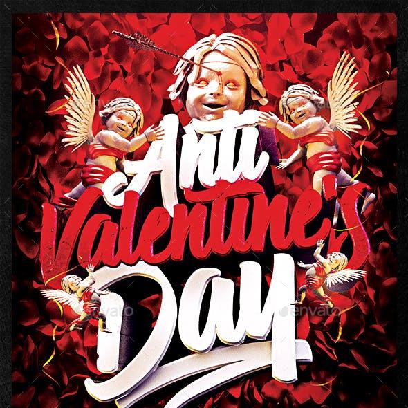 Anti Valentine's Day Flyer Template