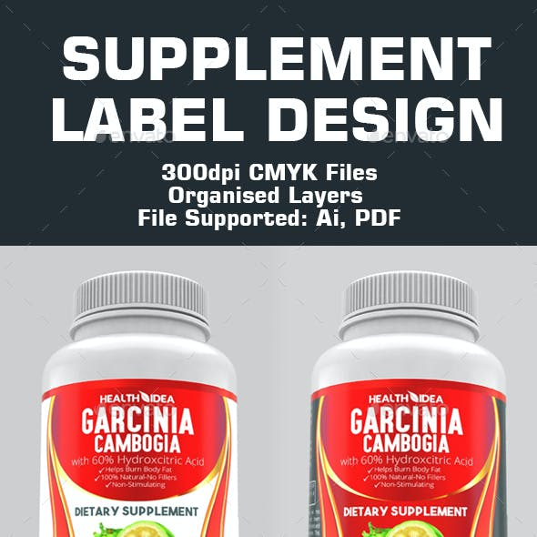 Supplement Label Templates