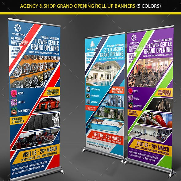 Agency & Shop Grand Opening Roll Up Banners