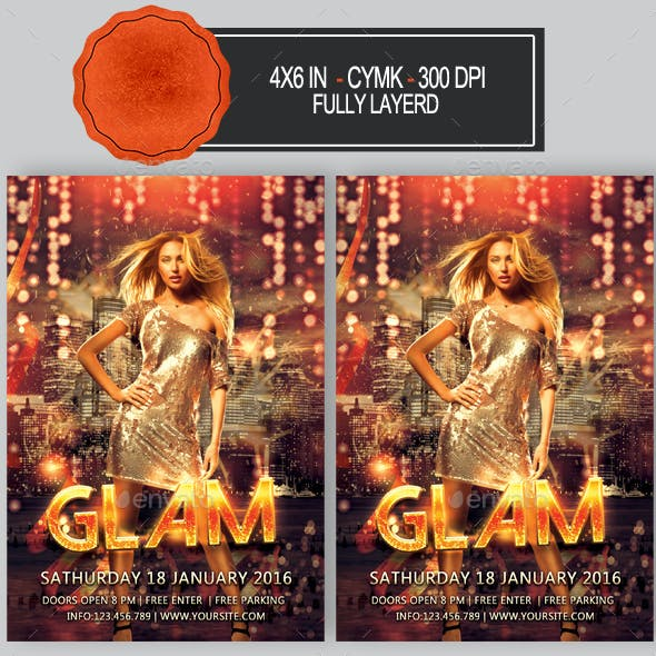 Glam Party Flyer