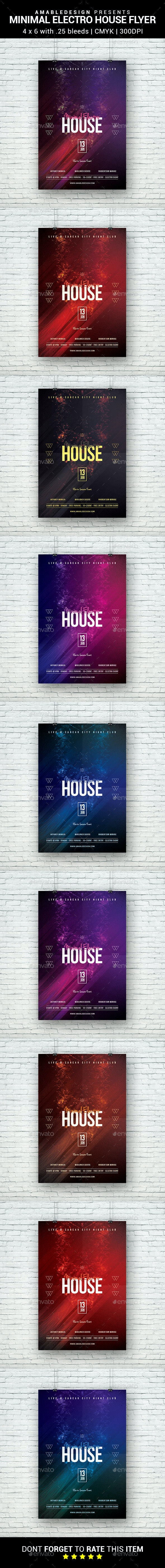 Minimal Electro House Flyer - Clubs & Parties Events
