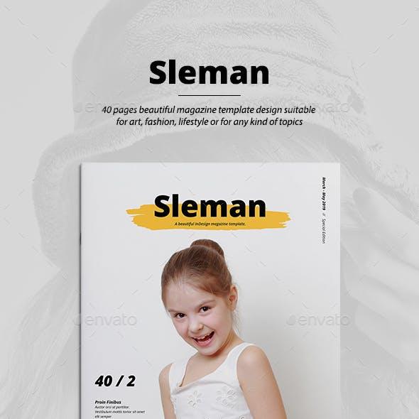 Sleman Modern Magazine Template