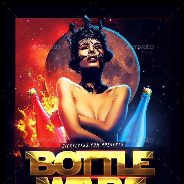 Bottle Wars Flyer PSD