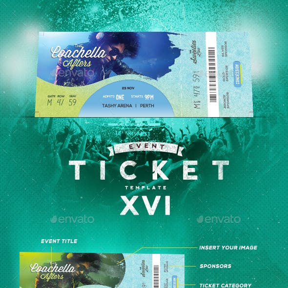 Event Tickets Template XVI