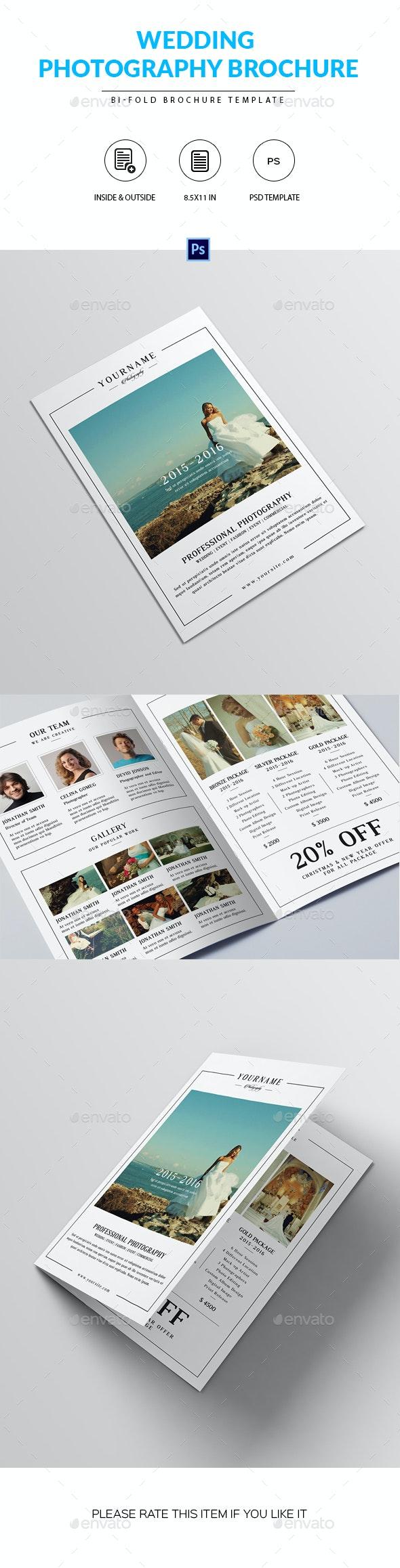 Wedding Photography Brochure Template - Corporate Brochures