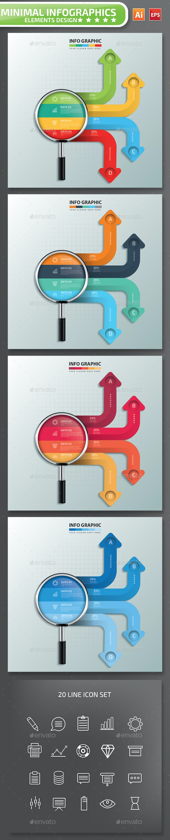 Searching Infographics Design 02
