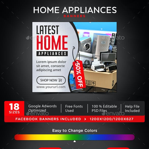 Appliance Promotion Graphics Designs Templates