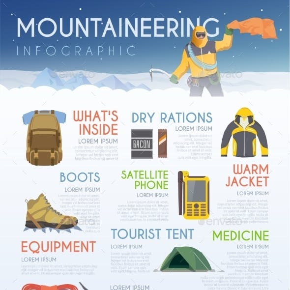 Mountaineering Brochure Infographic