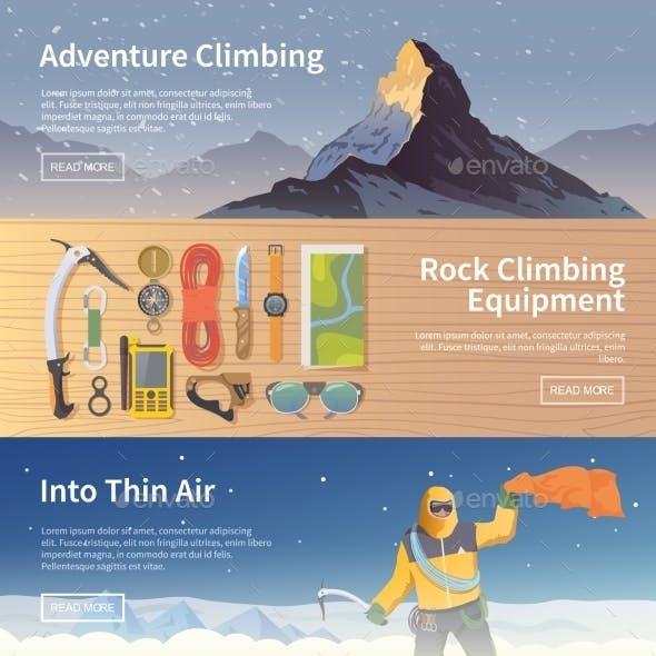 Climbing Flat Web Banners