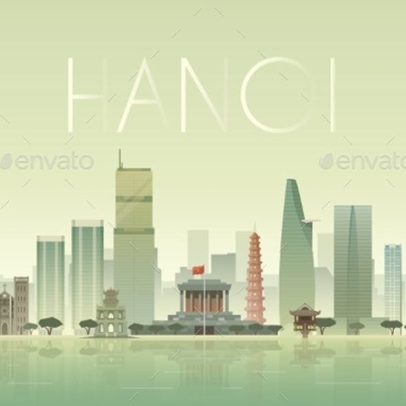 Hanoi Illustration