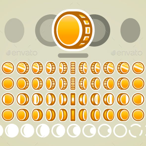 Animated Golden Coins