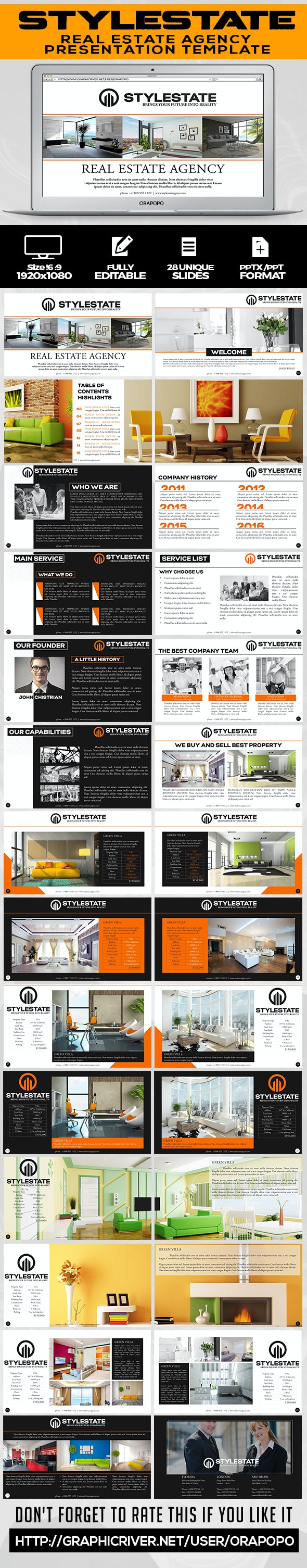 Stylestate   Real Estate Agency Presentation Template  - Business PowerPoint Templates