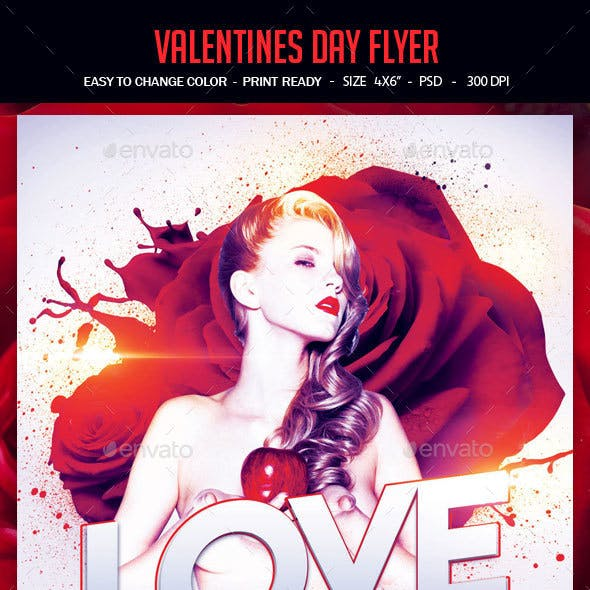 Love Party Flyer Template