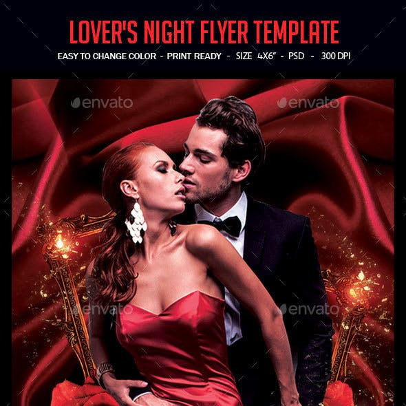 Lover's Night Flyer Template