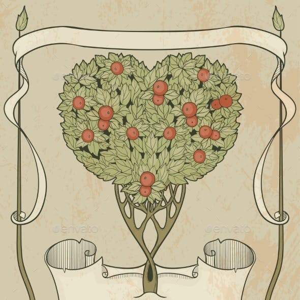 Heart-shaped Tree With Papirus