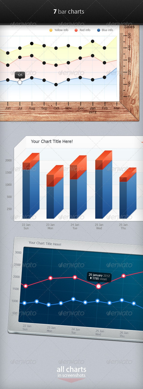 Bar Charts (Infographic Elements) - Infographics