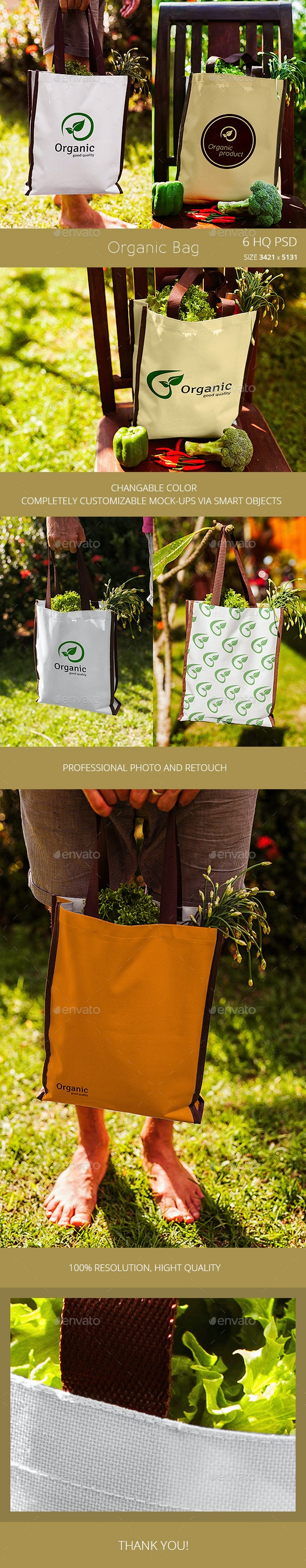 Organic Shopping Bag - Product Mock-Ups Graphics