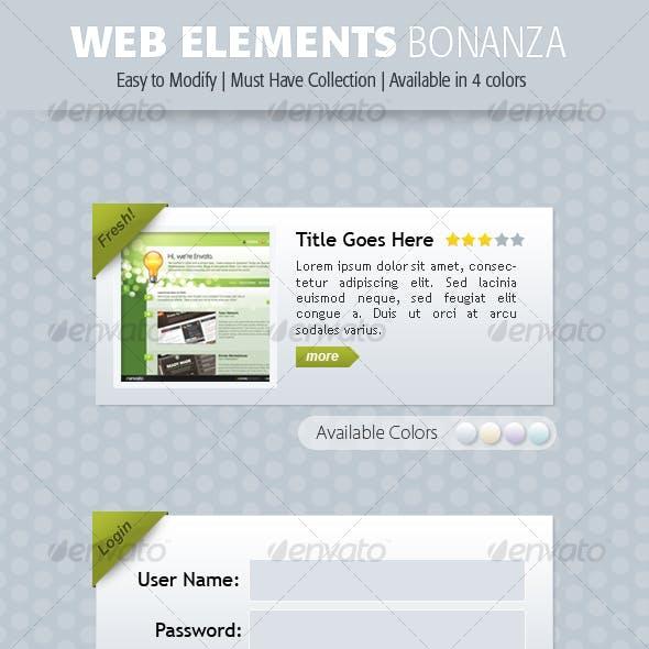 Web Elements Bonanza