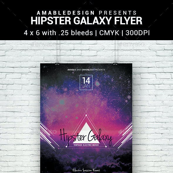 Hipster Galaxy Flyer