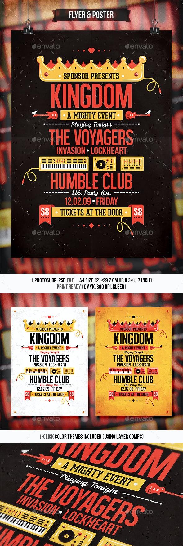 Kingdom - Flyer & Poster - Concerts Events