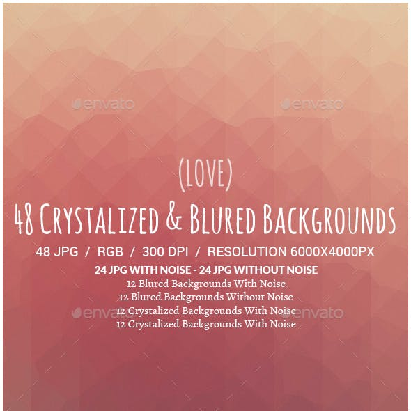 48 Crystalized & Blured Backgrounds