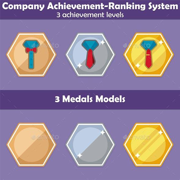 Company achievement-ranking set