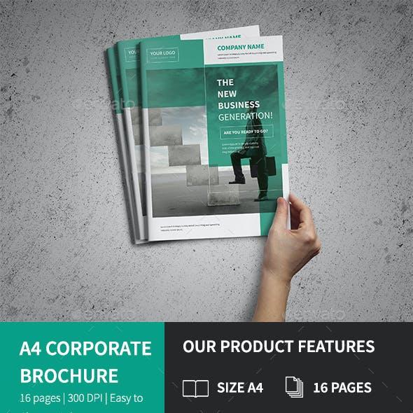 A4 Corporate Business Brochure Psd