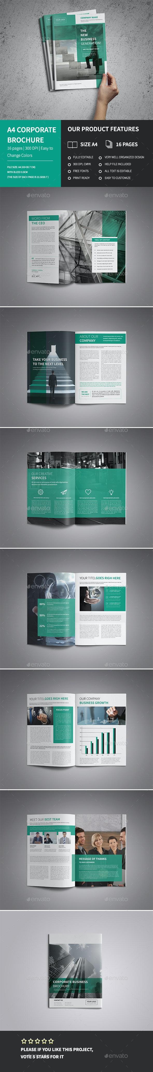 A4 Corporate Business Brochure Psd - Corporate Brochures