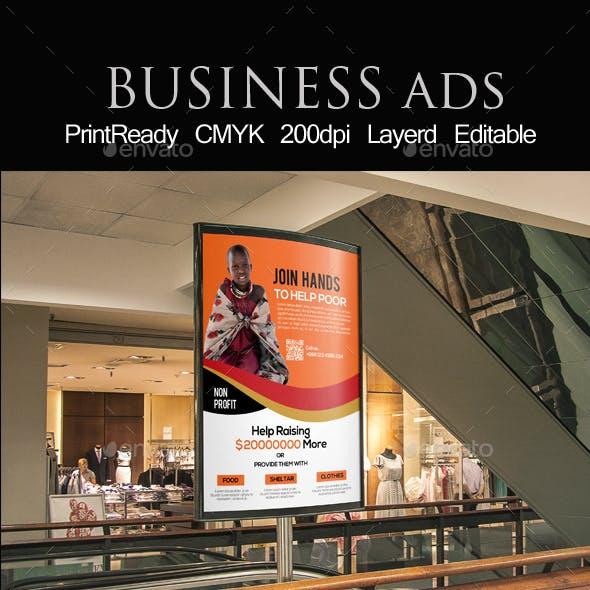 CharityEvent Bus Stop Banner Ad Template