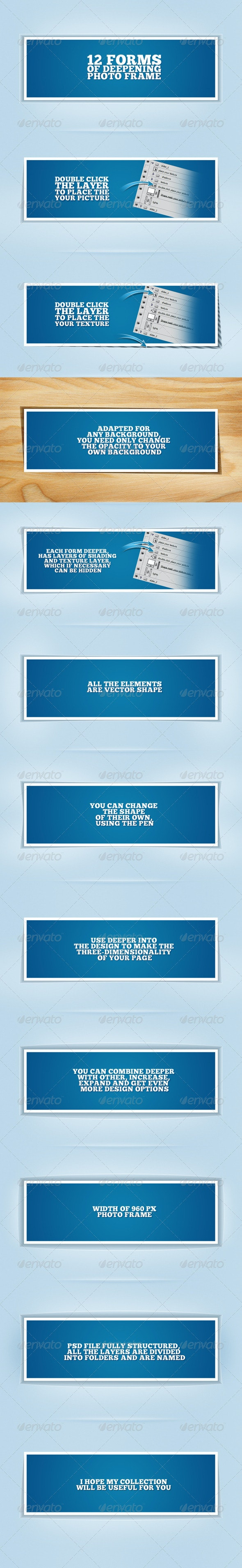 12 forms deepening photo frame - Miscellaneous Web Elements