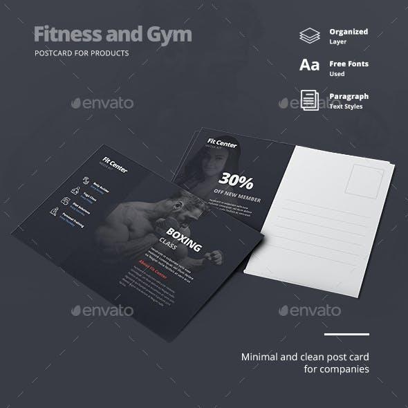 Fitness Gym Postcard