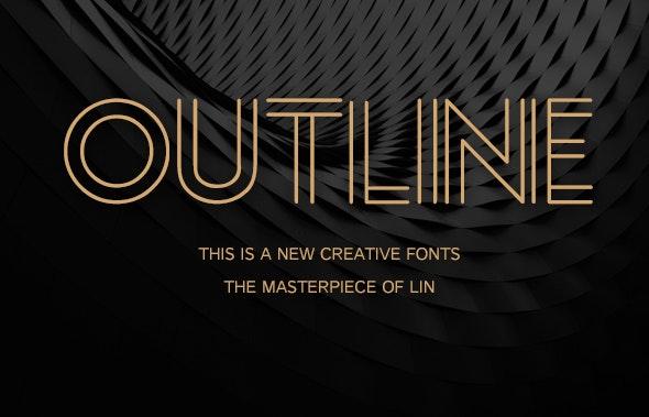 Outline-Creative font - Cool Fonts